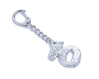 10th Anniversary 100% Tin Ten Key Ring