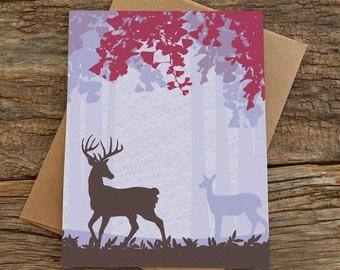 blank cards / woodland deer