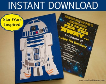 Star Wars Party Invitation - instant download