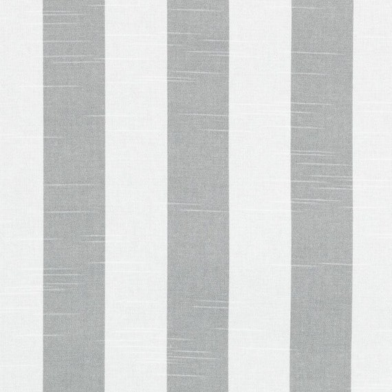 Grey Cotton Stripe Fabric Grey Stripe Upholstery Fabric