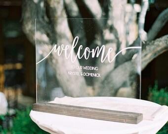 Wedding Welcome Sign - Acrylic Wedding Sign - Large Wedding Sign - Welcome Wedding Sign - Acrylic Welcome Sign - Wedding Welcome Signs