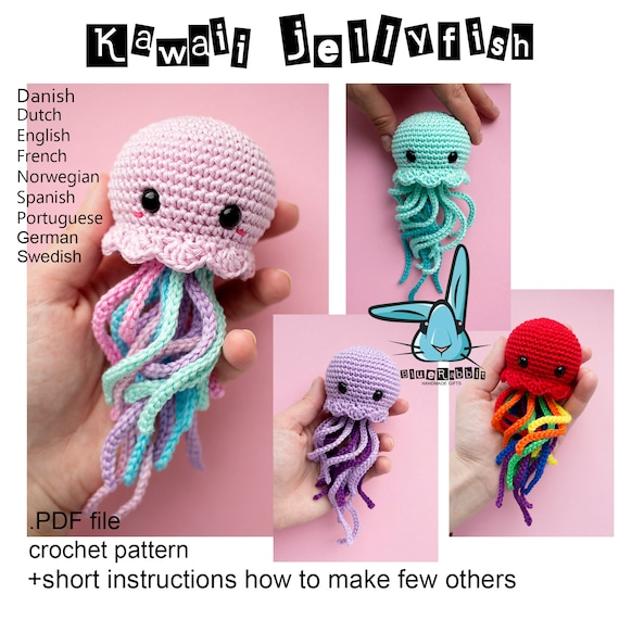 Kawaii Jellyfish Amigurumi Crochet Pattern Languages