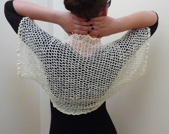 Summer Shrug. Сrochet women's bolero. Shrug knitting handmade. Wedding shrug bolero Knit Shrug Bolero. Hand Knitted  Loose Bolero Shrug.