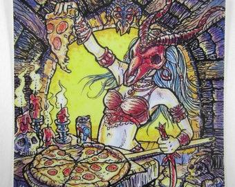 """Pizza Ritual — 4"""" Vinyl Sticker"""