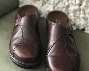 Clarks Shoes, Clarks shoes for women, Clarks Women's Shoes, Clarks Clogs, Leather Clogs Size 7, New, Never Worn