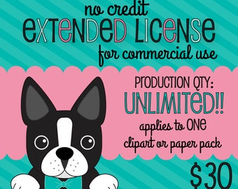 No Credit Extended Commercial License UNLIMITED