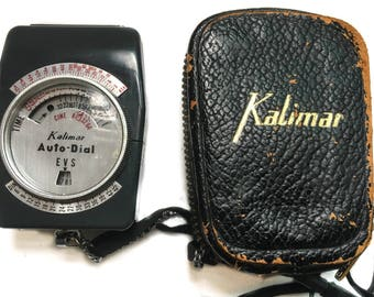 Retro Kalimar EVS Light Meter with case