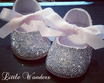 Swarovski Crystal Baby Girl Ballerina Flat Shoes
