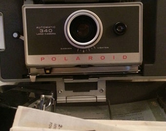 CLEARANCE, Polaroid Land Camera 340, Case, Accessories, Directions, Vintage 1960's, Collectible