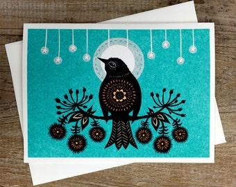 Night Bird - Greeting Card
