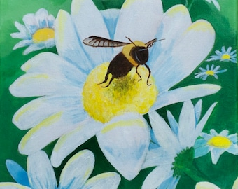 Flight of the Bumble Bee Original Acrylic on Canvas