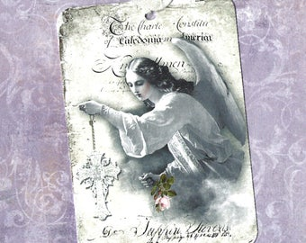 Tags, Religious, Angel Gift Tags, Religious Tags, Angel