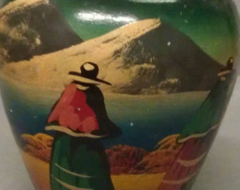 Vintage Mexican Pottery Vase by Nina
