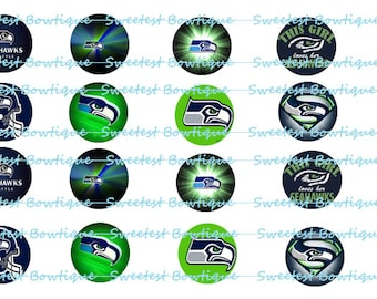 Sea Hawks Instant Download 1 inch bottle cap images
