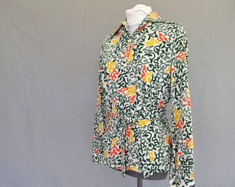 Girl Scout Tunic, Vintage 1970's Adult Top / Blouse, Fits Size 10 Medium
