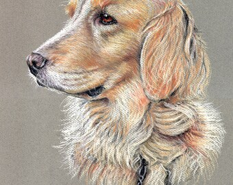 "Maggie - Faithful reproduction of my Original Pastel utilizing archival quality paper & inks, 13.5""x11"""