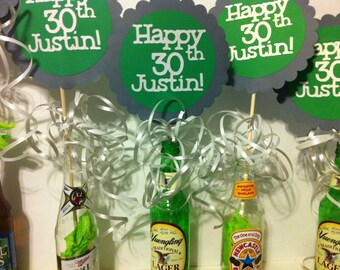 30th Birthday Decorations Centerpiece Signs