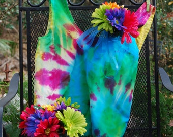 Tie dyed canvas Hobo bag