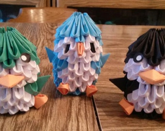 3D Origami Penguins