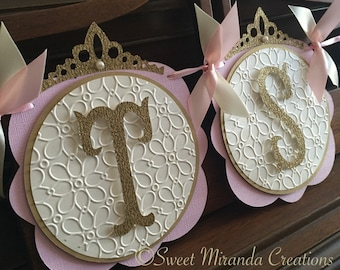 Pink and Gold Princess Baby Shower Banner