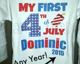 Boy's My First 4th of July Shirt or Bodysuit Boy's 1st 4th of july shirt Boys 4th of July Shirt 1st 4th of July  size preemie through size 3