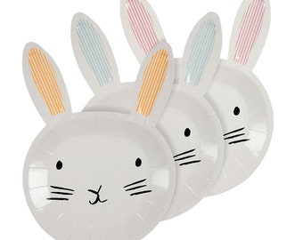 Meri Meri Easter bunny plates set of 12