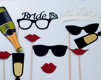Classic Bride Photo Booth Props, Bridal Shower Photo Booth Props, Bachelorette Party Photo Booth Props PB002