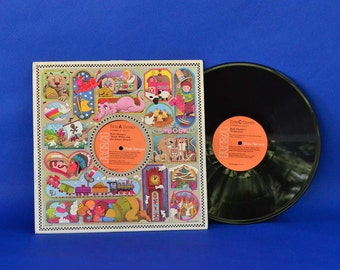 Walt Disney Double Record Album RCA 1976 R 220262 - Cover Art by Bernie Karlin - Vintage Vinyl Record Set - Children's Stories and Music