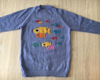 Handmade sweater, women's sweater, wool sweater, pull over, jumper