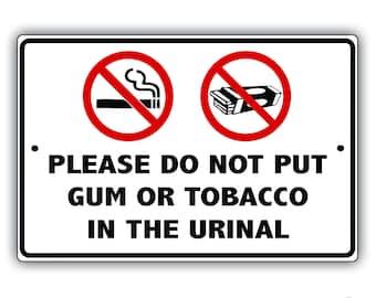 Bathroom Aluminum Sign