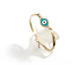 Evil Eye Bracelet, Evil Eye Jewelry, Evil Eye Bangle, Charm Bracelets, Friendship Bracelets, Best Friend Bracelets, Best Friend Gifts, Gift