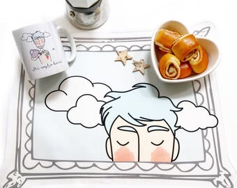 """Placemat """"With a light heart..."""""""