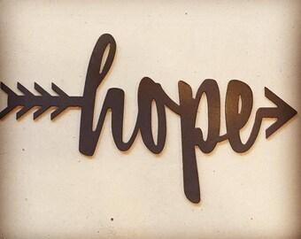 Hope Arrow in Metal