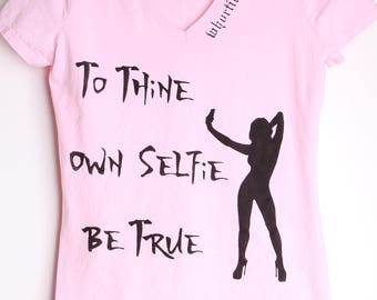 Handpainted, Whorticulure Haute Couture™ Wearable Art LADIES T-shirt Size SMALL, Pink