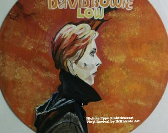 David Bowie Low hand painted record