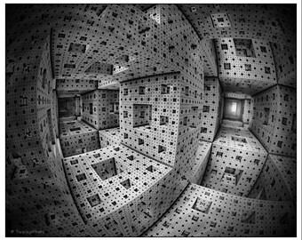 Sierpinski cube, Fractal Art, Abstract Art, Art Print, Home Decor, Wall Art