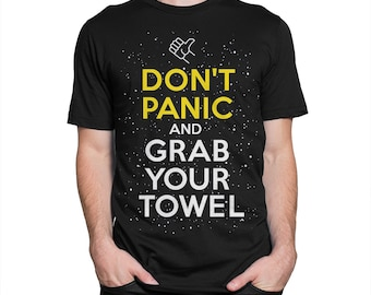 Hitchhiker's Guide to the Galaxy Art T-shirt, Men's Women's All Sizes