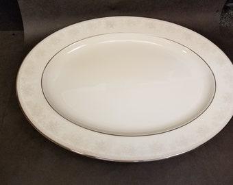 "Noritake Contemporary ""Misty"" #2883 Fine China 16"" Serving Platter"