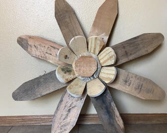 Handcrafted Rustic Wooden Flower