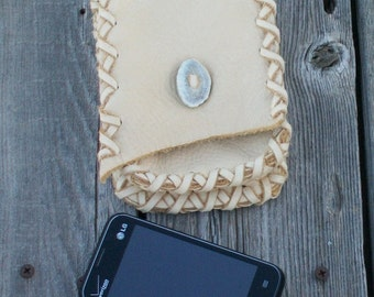 Leather belt bag , Leather hip bag , Leather phone bag