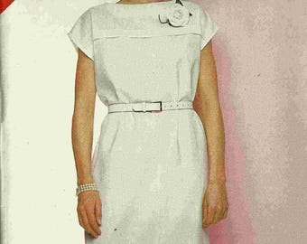 Sewing pattern See&Sew B5392 Loose fitting straight dress with tucks at bust and hemline cap sleeves Size 14-16-18 (uncut)