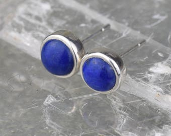 Lapis Lazuli Earrings | Silver Lapis Lazuli Studs | Lapis Lazuli Jewellery | Sterling Silver Studs | Blue Studs | Silver Earrings | Lapis