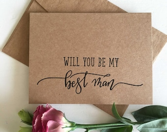 Will You Be My Bestman - Best Man Proposal - Best Man Invitation - Best Man Gift - Bestman Gift - Rustic Wedding - Wedding Party Card