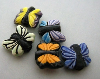 20 Tiny Butterfly Beads