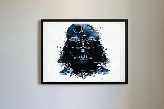 StarWars Darth Vader Oil Painting Print 6 Star Wars