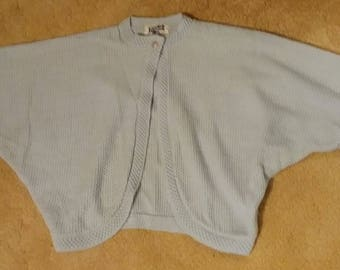 1950s 50s baby blue bolero sweater