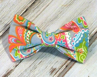 SALE Paisley Dog bow, Cat bow tie, pet bow tie, collar bow tie, wedding bow tie