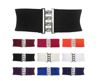 Cinch Belt 50s Style// Stretchy Elastic Belt// Rockabilly, Pinup Belt// Available in 9 Colors, Sizes S-XL