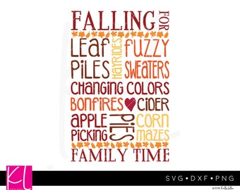Fall Typography svg - Fall Sign svg - Wood Sign svg - Fall Decor svg - Autumn Word Art svg - Fall Word Art svg - Harvest svg