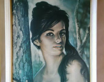 Iconic 60s print - ' Tina ' by JH Lynch in original mid century frame. As seen in Clockwork Orange